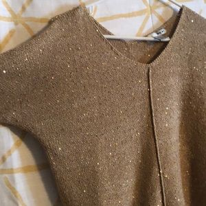 Gold sparkly WD•NY sweater M